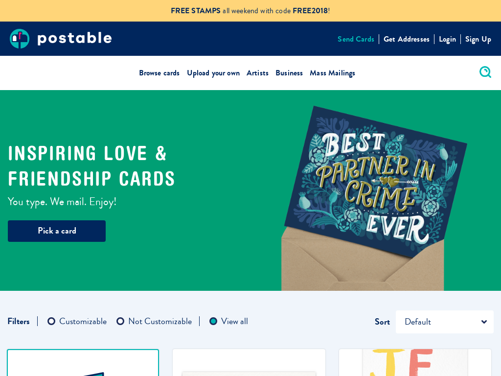 Postable - Handwritten Greeting Card Service