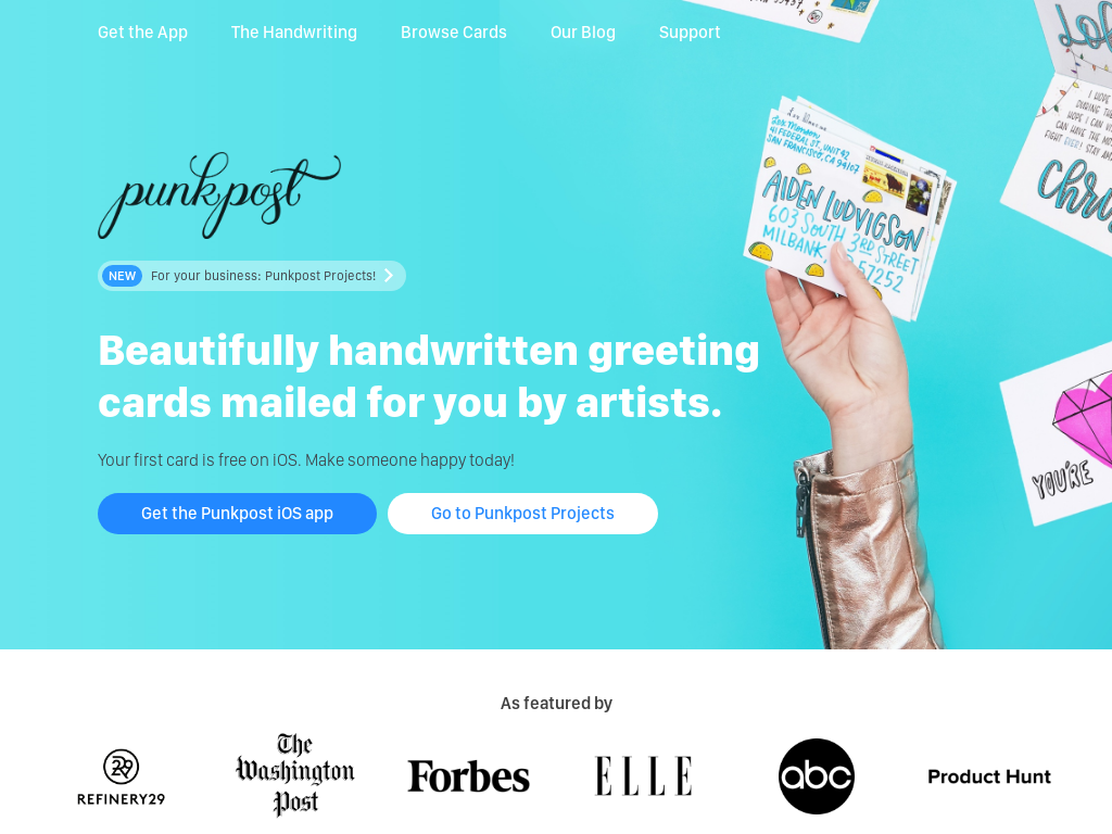 PunkPost - Handwritten Greeting Card Service