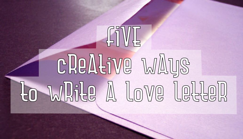 creative way to write a letter