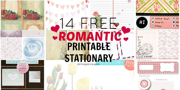 14 free printable stationary sheets for love letters - ldr magazine
