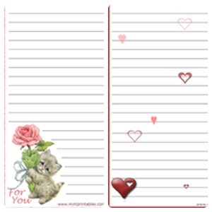 Love U0026 Romantic Stationary · Stat4  Printable Letter Paper With Lines
