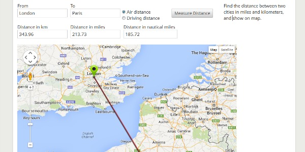 8 Ways to Calculate the Distance Between You LDR Magazine – Map Uk Distance Calculator