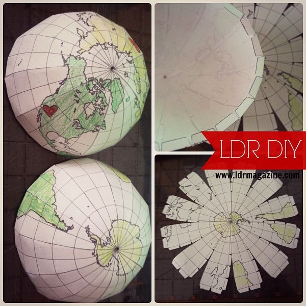 picture regarding Printable Globes named Paper world template