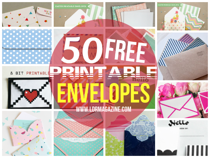 free printable envelopes 40 Free Printable Envelopes