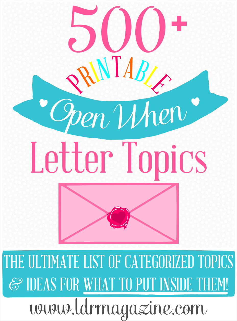 the ultimate list of 500 open when letter ideas