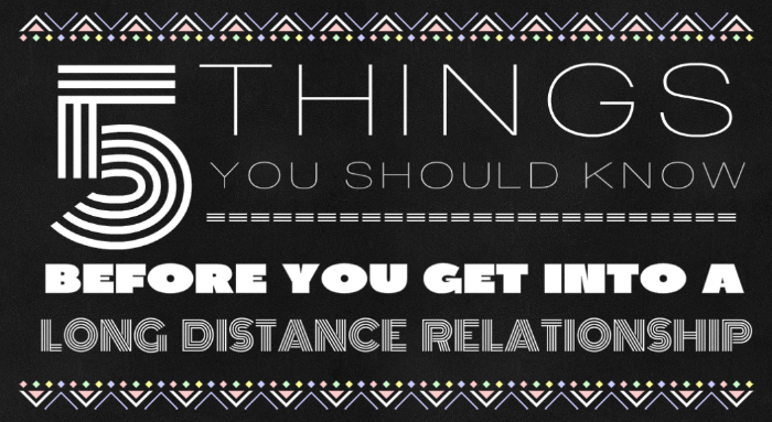 Getting to know someone long distance