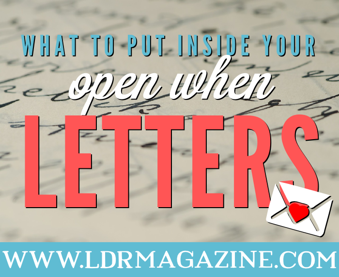 what to put inside open when letters
