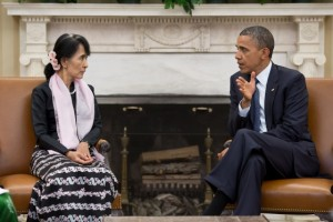 Aung San Suu Kyi became a symbol of peace after her release