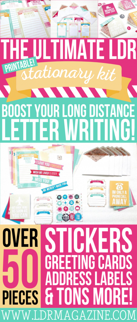 This kit is awesome! A Long Distance Relationship Stationary set perfect for those of us in LDRs!