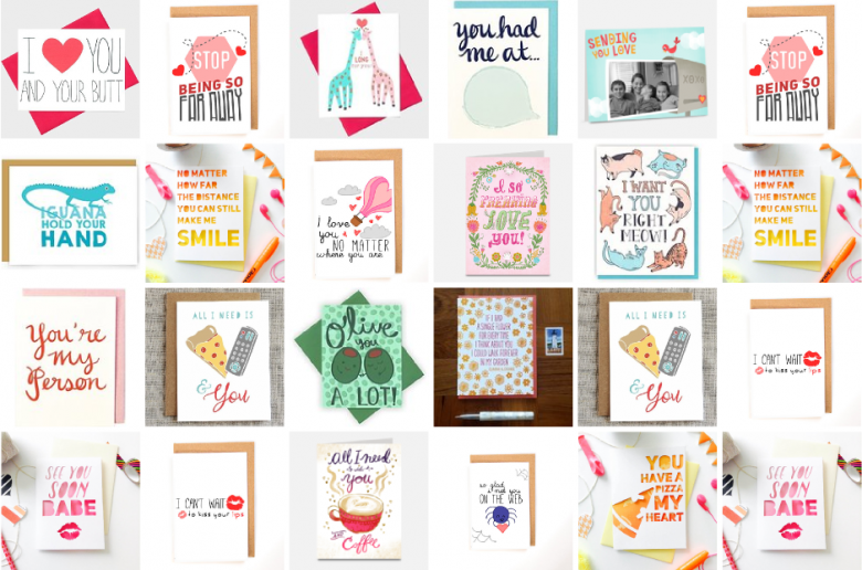 long distance relationship cards